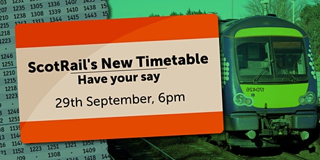 ScotRail's New Timetable for Mid Scotland and Fife: Have Your Say tickets