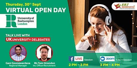 Virtual Open Day of University of Roehampton tickets