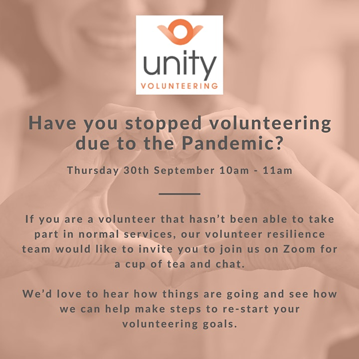 Volunteer Resilience Forum - Stopped volunteering due to the pandemic? image