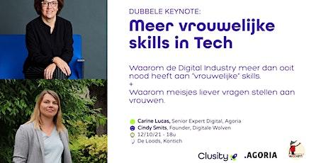 Meer vrouwelijke skills in tech - 2 keynotes van Carine Lucas & Cindy Smits tickets