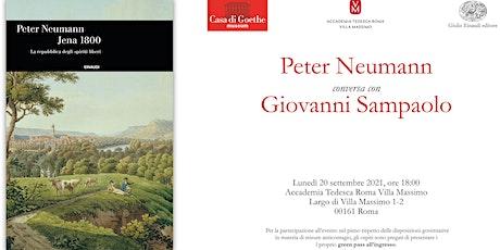 PRESENTAZIONE LIBRO: PETER NEUMANN , JENA 1800, ed. EINAUDI biglietti