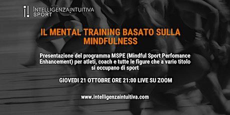 Il Mental Training basato sulla Mindfulness tickets