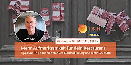 DISH Live-Webinar: Mehr Aufmerksamkeit für dein Restaurant Tickets