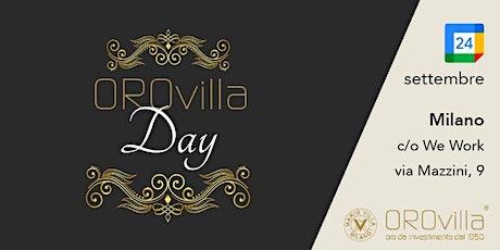 OROvilla Day 2021 biglietti