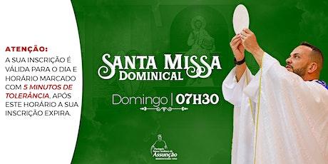 Domingo - 07h30| Santa Missa Dominical-19 de setembro ingressos