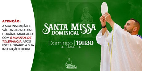 Domingo - 19h30| Santa Missa Dominical-12 de setembro ingressos