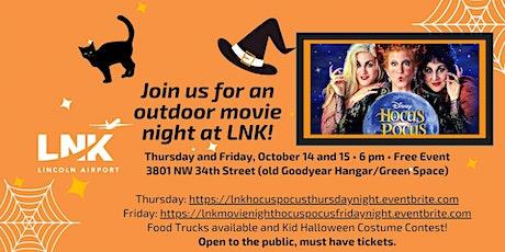 LNK October Movie featuring - Hocus Pocus (Thursday) tickets