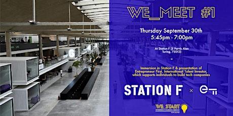We_Meet #1 à Station F chez Entrepreneur First ! billets