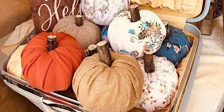 Fabric Pumpkin Making Class tickets