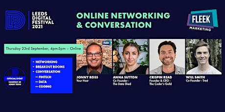 Leeds Digital Festival Online Networking & Conversation 23rd September tickets