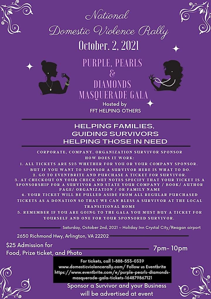 Domestic Violence Rally Purple, Pearls & Diamonds Masquerade Gala image