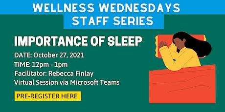 Principal's Office Wellness Wednesdays Series - Sleep Habits tickets