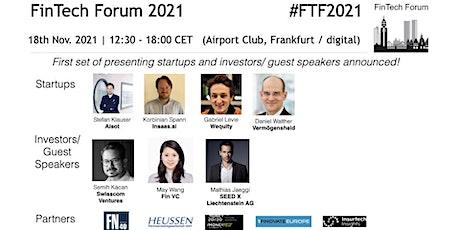 FinTech Forum 2021 | 18th Nov. 2021 tickets