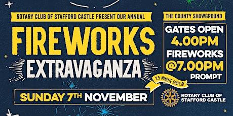 Staffordshire Fireworks Extravaganza billets
