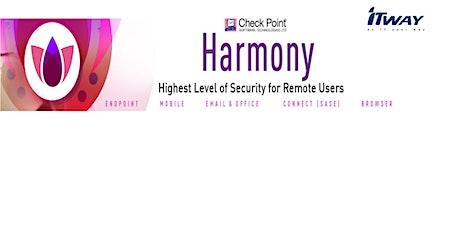 WEBINAR - Harmony la soluzione completa di protezione dell'EndPoint biglietti