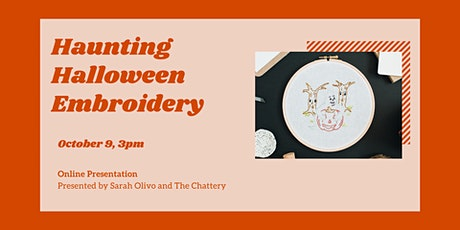 Haunting Halloween Embroidery - ONLINE CLASS + SUPPLIES tickets