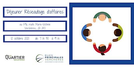 Déjeuner-Réseautage - Verchères - octobre 2021 billets