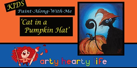 'Cat in a Pumpkin Hat' KIDS Halloween Painting Workshop @ YourSpace.Sutton tickets