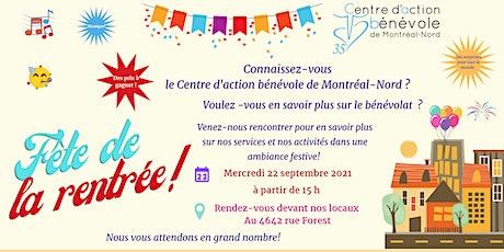 Fête de la rentrée - CAB Montréal-Nord billets