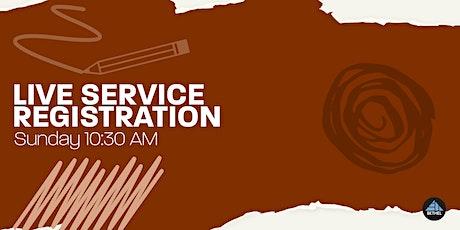 Sunday  Morning Service Registration tickets