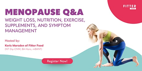 LIVE Menopause Q&A tickets