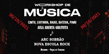 AULA ABERTA - ARC SOBRÃO - NOVA ESCOLA ROCK bilhetes