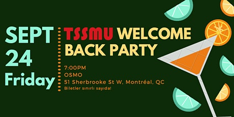 TSSMU Welcome Back Party tickets