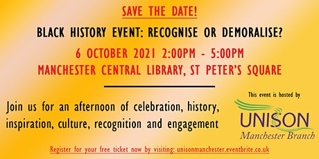 Black History Event: Recognise or Demoralise? tickets