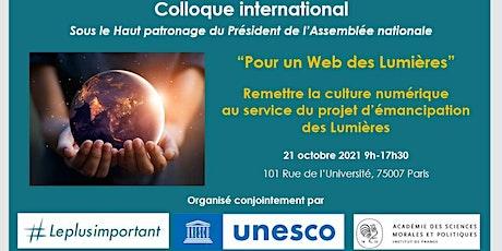 """Colloque international """"Pour un Web des Lumières"""" (distanciel) billets"""