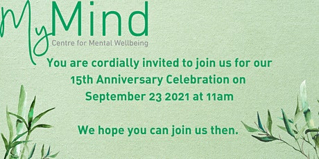 MyMind 15th Anniversary Celebration tickets