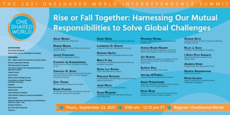 Harnessing Our Mutual Responsibilities to Solve Global Challenges tickets