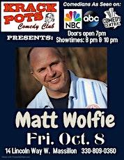 Comedian Matt Wolfie tickets