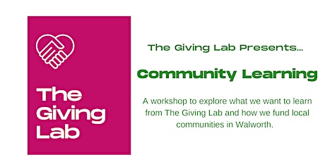The Giving Lab Presents: Community Learning tickets