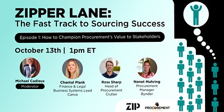 Zipper Lane: The Fast Track to Sourcing Success tickets