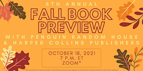 2021 Fall Book Preview! tickets