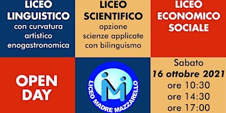 OPEN DAY LICEO MAZZARELLO TORINO biglietti
