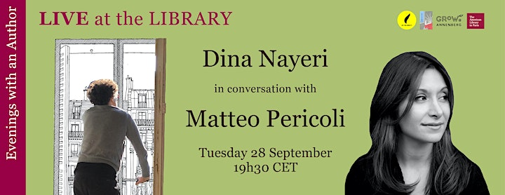 In-Person: Dina Nayeri & Matteo Pericoli at the American Library in Paris image