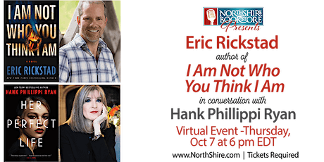 """Northshire Online: Eric Rickstad """"I Am Not Who You Think I Am"""" tickets"""
