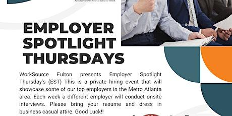 Employer Spotlight Thursday's tickets