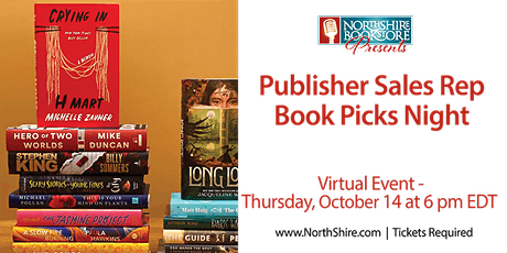 Publisher Rep Book Picks Night tickets
