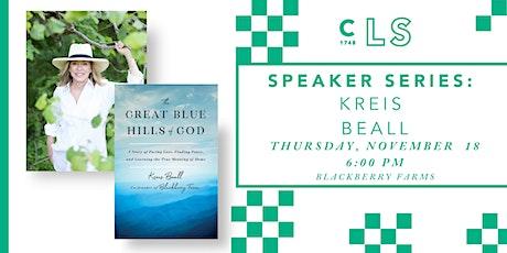 Speaker Series: Kreis Beall tickets