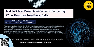 Middle School Parent Mini-Series on Executive Functioning
