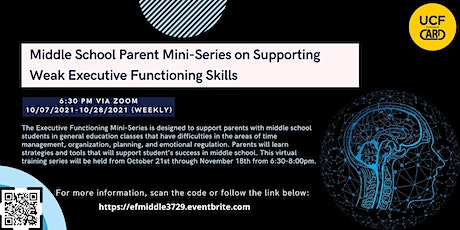 Middle School Parent Mini-Series on Executive Functioning tickets