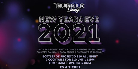 The Bubble Lounge New Years Eve tickets