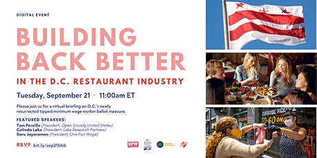 Building Back Better in the DC Restaurant Industry: Digital Roundtable tickets
