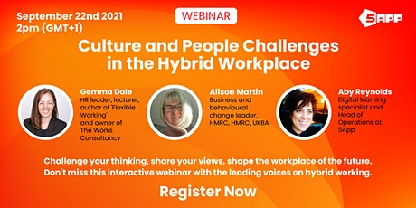 Culture and people challenges in the hybrid workplace tickets
