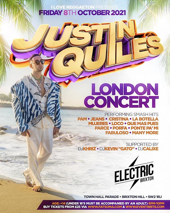 JUSTIN QUILES REGGAETON SUPERSTAR LIVE IN CONCERT @ ELCTRIC BRIXTON LONDON image