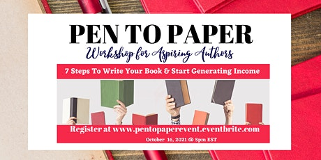 Pen to Paper - Workshop for Aspiring Authors tickets