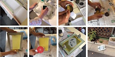 Screen printing workshop (screen stencil making + t-shirts printing) tickets