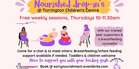 Nourished drop-in Torrington (Breastfeeding & Infant feeding support) tickets